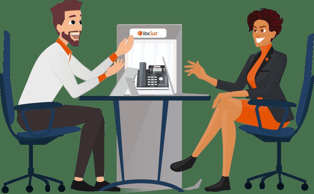 Les téléphones IP de VoxSun rendent vos employés plus productifs