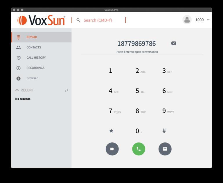Apps VoxSun Pro pour Windows et macOS