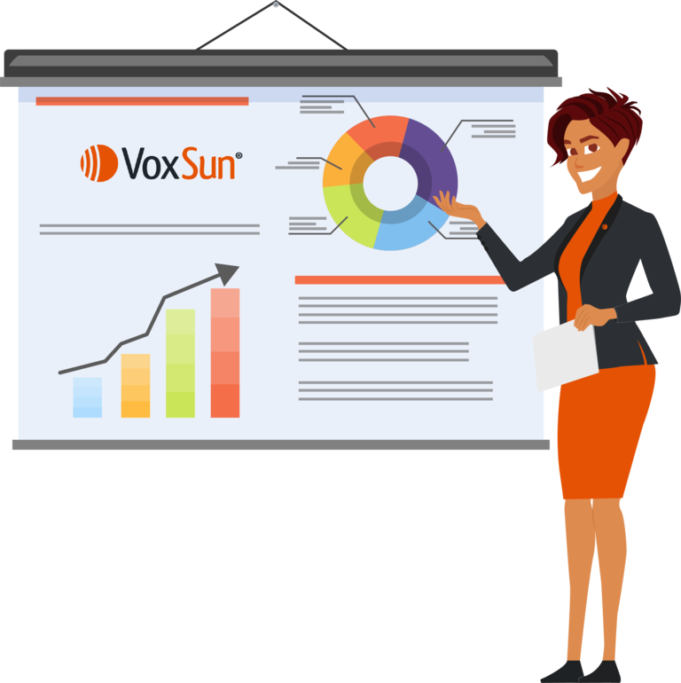 VoxSun Business phone statistics for sales team